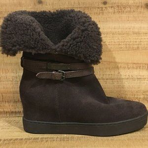 COACH NORELL  Boots Suede Brown Shearling SZ.7B